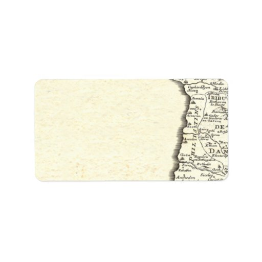 Tribes of Israel Antique Map Elegant Personalized Address Labels