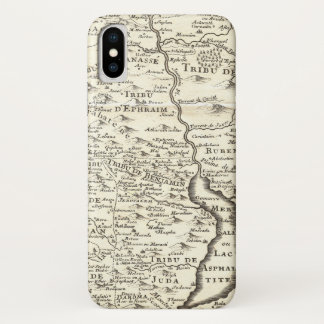 Tribes of Israel - Antique Map of Promised Land iPhone X Case
