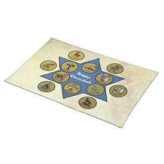 Tribes of Israel Celebrate Chanukah Placemats