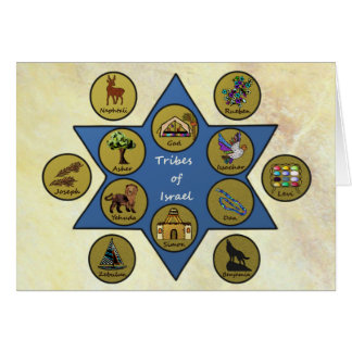 Tribes of Israel Sweet Year Stationery Note Card
