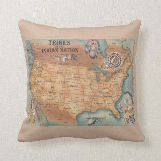 Tribes of the Indian Nation Pillow