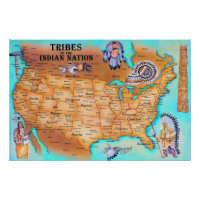Tribes of the Indian Nation Poster