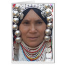 Tribes Woman Greeting Card
