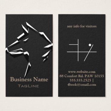 Lawyer Themed TribeWolf BlackWhite on DarkGrey Business Card