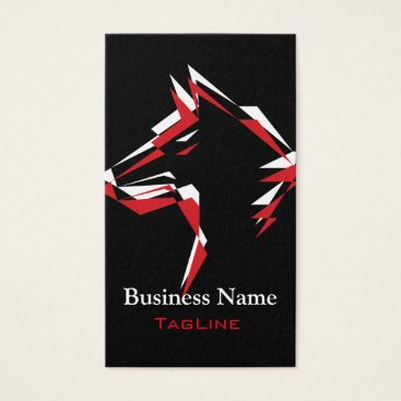 Lawyer Themed TribeWolf Red White Business Card