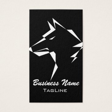 Lawyer Themed TribeWolf White Business Card