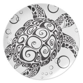 Trible Tattoo Melamine Plate