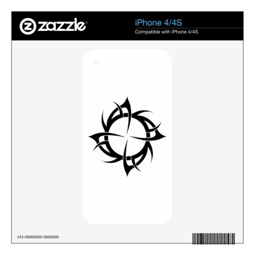 Trible Tattoo style iPhone 4S Decal