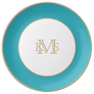 Triboro Blue-Electric Blue-Uptown Girl-Designer Porcelain Plate