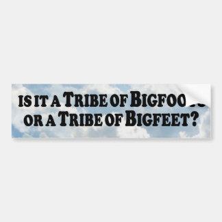 Tribu de Bigfoots o de Bigfeet - básico Pegatina Para Auto