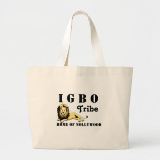Tribu de encargo del igbo de Africankoko (Nigeria) Bolsa Tela Grande