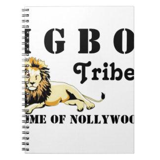 Tribu de encargo del igbo de Africankoko (Nigeria) Libreta Espiral