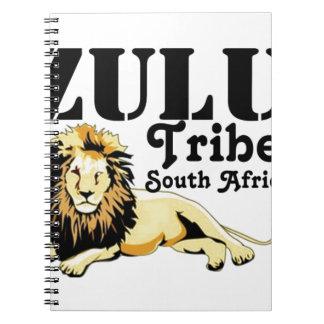 Tribu de encargo del Zulú de Africankoko Libro De Apuntes