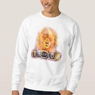 Tribu de Judah - blanco largo de la manga Sudaderas Encapuchadas
