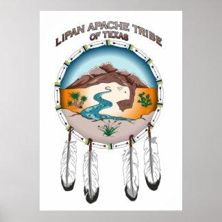 "Tribu de Lipan Apache de Tejas 24"" x 33,6"" poster"