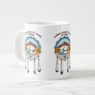 Tribu de Lipan Apache taza enorme blanca de 20 Taza Grande