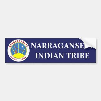 Tribu de Narragansett Pegatina Para Auto
