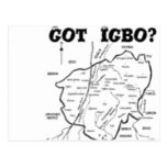 """TRIBU del """"IGBO"""", NIGERIA (camiseta y etc) Postal"""