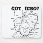 """TRIBU del """"IGBO"""", NIGERIA (camiseta y etc) Alfombrilla De Raton"""