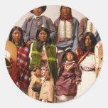 Tribu del Ute Etiquetas Redondas