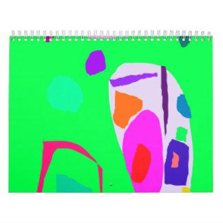 Tribu en segundo lugar verde del personalizado de  calendarios