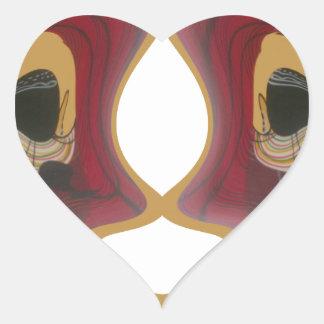 Tribu Image.png de Tratidional del africano de Pegatina En Forma De Corazón