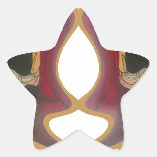 Tribu Image.png de Tratidional del africano de Pegatina En Forma De Estrella