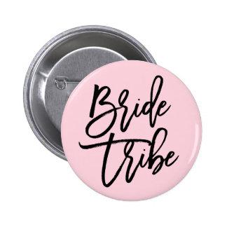 Tribu moderna de la novia pin redondo de 2 pulgadas
