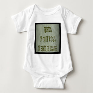 tribulation: greater the test greater the blessing baby bodysuit
