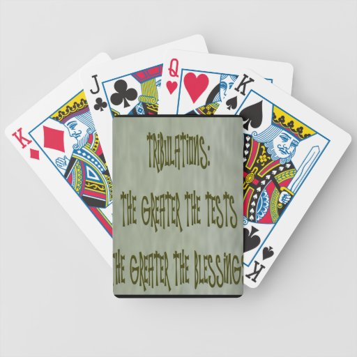 tribulation: greater the test greater the blessing card decks