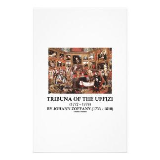 Tribuna Of The Uffizi by Johann Zoffany Customized Stationery