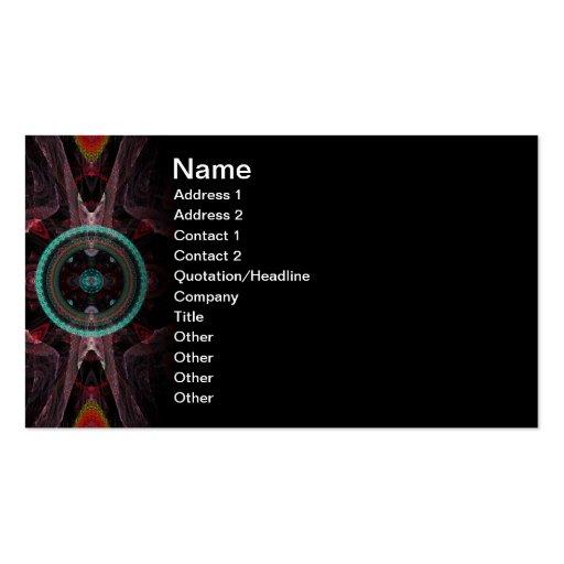 Tribunal Abstract Fractal Artwork Business Card Templates