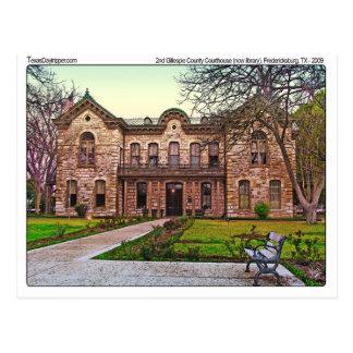 Tribunal de Gillespie Co. (viejo), Fredericksburg, Postal
