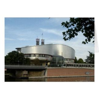Tribunal de justicia europeo Estrasburgo postal Tarjeta De Felicitación