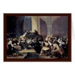 Tribunal de la inquisición de Francisco De Goya Tarjeta