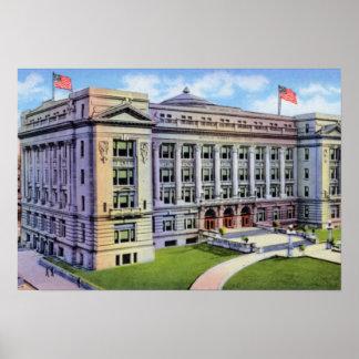 Tribunal de Omaha Nebraska el condado de Douglas Poster