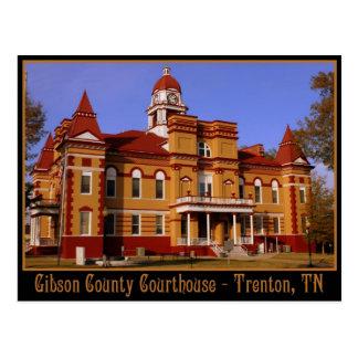 Tribunal del condado de Gibson - Trenton, TN Tarjeta Postal