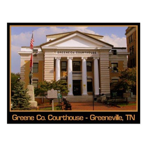 Tribunal del condado de Greene - Greeneville, TN Postales