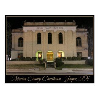 Tribunal del condado de Marion - jaspe, TN Tarjeta Postal