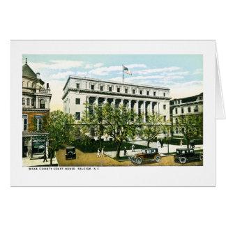 Tribunal del condado de Wake, Raleigh Carolina del Tarjeta De Felicitación