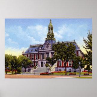 Tribunal magnífico de Nebraska el condado de Hall  Poster