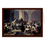 Tribunal Of The Inquisition By Francisco De Goya Greeting Card