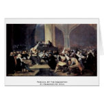 Tribunal Of The Inquisition By Francisco De Goya Card