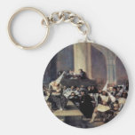 Tribunal Of The Inquisition By Francisco De Goya Key Chains
