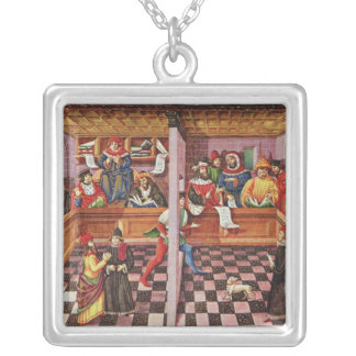 Tribunal of the Scientists Silver Plated Necklace