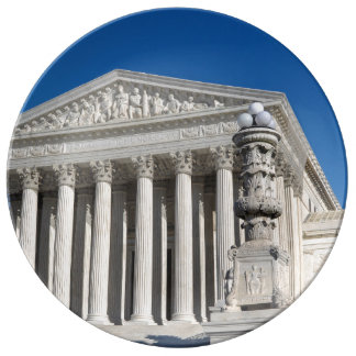 Tribunal Supremo Building-6 Platos De Cerámica