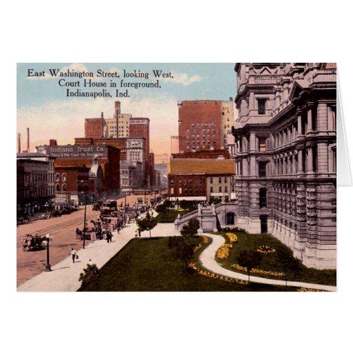 Tribunal viejo de Indianapolis, Indiana Tarjeta De Felicitación