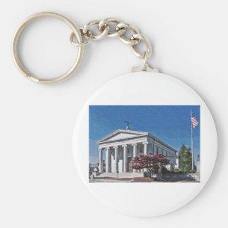 Tribunal viejo del condado de Madison Llavero Redondo Tipo Pin