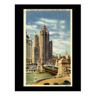 Tribune Tower, Chicago Vintage Postcard