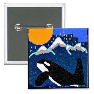 Tribure al botón de la orca de los volantes pin